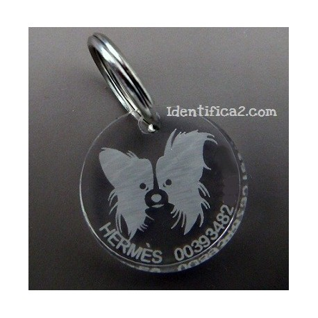 Placa identificativa Papillon