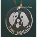 Placa Identificativa Beagle. Opción 1