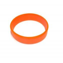 Pulsera silicona naranja tamaño S - 15 cm.