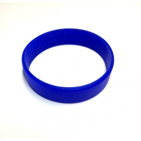 Pulsera silicona azul tamaño S - 15 cm.