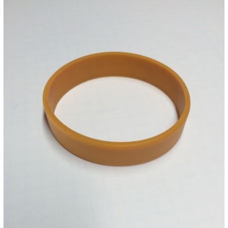 Pulsera silicona marrón tamaño S - 15 cm.