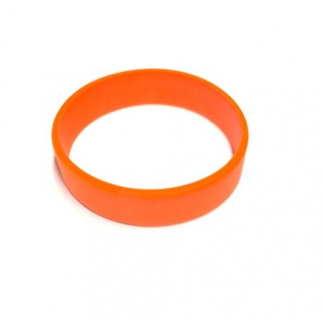 Pulsera silicona naranja tamaño M - 18 cm.