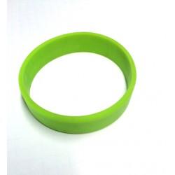 Pulsera silicona verde tamaño M - 18 cm.