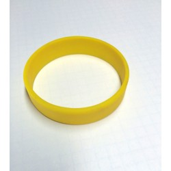 Pulsera silicona amarilla tamaño M - 18 cm.