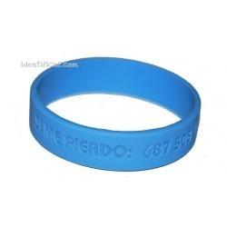 Pulsera silicona azul tamaño M - 18 cm.